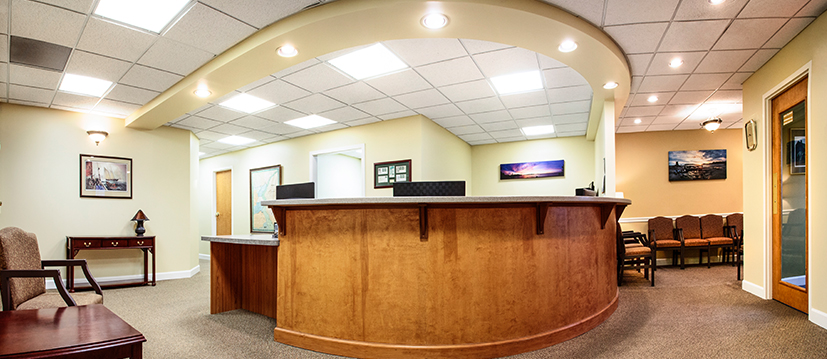 The Barksdale Dental reception desk is where you will check in upon arrival.